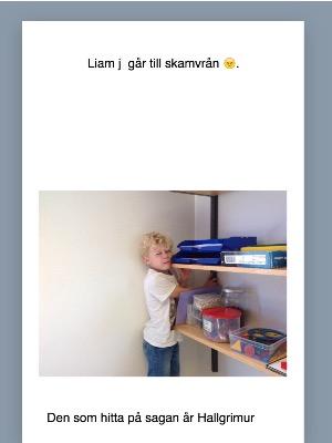 Liam J går till skamvrån